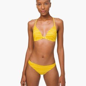 Lululemon Yellow deep sea swim top.